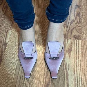 Vintage Prada Vero cuoio heeled mule